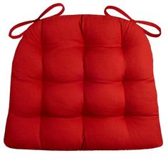 Cotton Duck Flame Red Dining Chair Pads - Latex Foam Fill - Reversible - Buy 4 Chair Pads and Get 4 Reusable Cloth Napkins FREE! Ends Red Dining Chairs, Dining Chair Cushions, Dining Decor, Dining Room, Turquoise Kitchen, Teal Kitchen, Striped Chair, Red And Teal, Fabric Suppliers