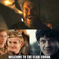 Welcome to the club Euron. Game of Thrones, Season 7.