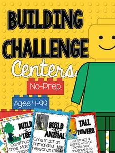 Building Challenge STEM and Writing Centers These centers have students building… Teaching Math, Teaching Resources, Kindergarten Stem, Preschool, Stem Science, Science Inquiry, 2nd Grade Math, Second Grade, Library Lessons