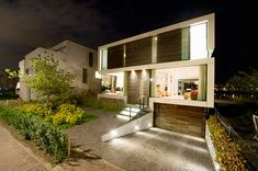 Awesome Ideas Of Family Dutch: Sunken Driveway Underground Garage Design Single Family Dutch Home