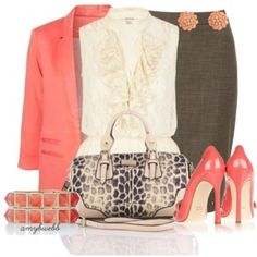 Peplum Blouse Set
