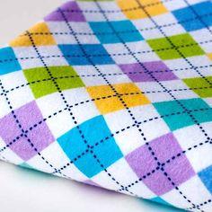 Argyle Flannel Lilac - cotton fabric