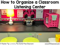 Are you wondering how to organize the listening center in your classroom? This classroom organization tip will show teachers a clever way to organize and store student headphones.