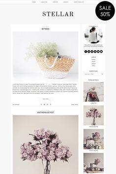 143 Best Cute Pretty Blog Designs Images Design Web Design