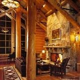 Add cabin style to your homes decor with the cabin decor ideas in this article. Helpful photos illustrate a variety of cabin decorating styles. Cabin Interior Design, Home Design, Design Ideas, Modern Interior, Style At Home, Stone Fireplace Designs, Stone Fireplaces, Deco Nature, Log Cabin Homes