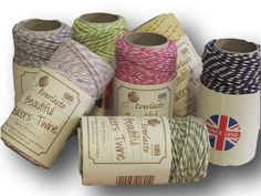 """Everlasto """"Beautiful"""" Bakers Twine Floral Craft Pack - 7 x 20m"""