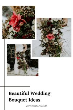 Beautiful unique wedding bouquet by BUD + BLOOM. To see more of this winter bouquet, visit Teller of Tales Photography. Fish Creek Park, Fall Wedding, Our Wedding, Winter Bouquet, Bride Bouquets, Engagement Shoots, Unique Weddings, Bud, Weddingideas