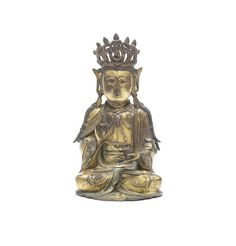 A fine large gilt-bronze figure of Buddha and lotus stand Ming Dynasty, 16th/17th century (2)