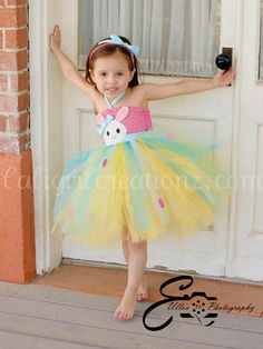 Little Bunny Foo Foo Easter Tutu Dress 02t by CaliGirlCreationz, $65.00 (Mariella in this on Easter Sunday!!! haha everyone would want to take her home!)