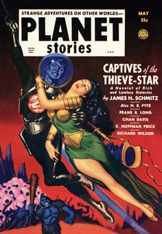Vintage Sci Fi Poster A.N.C. Planet Stories May 25c                                                                                                                                                                                 More