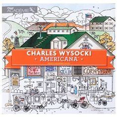 Mead Adult Coloring Book Charles Wysocki Americana By Academie 54014