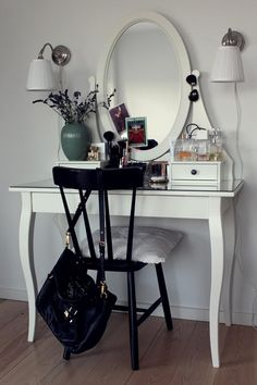 dressing table and make-up collection