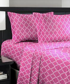 Look what I found on #zulily! Pink Sheet Set #zulilyfinds