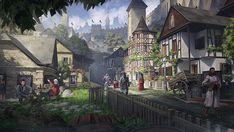 fantasy town art Szukaj w Google in 2020 Fantasy village Fantasy town Fantasy art landscapes