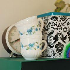 2 tasses à café myosotis Arcopal - deco-graphic.com