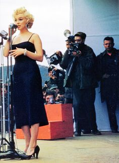 Marilyn Monroe entertaining the troops in Korea, 1954