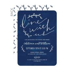 Dine with Us Rehearsal Dinner Invitations