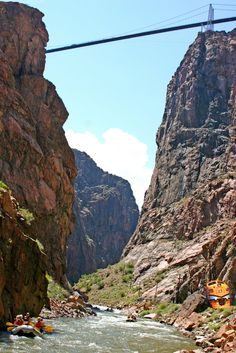 Royal Gorge Bridge - Canon City, Colorado.  Those that don't mind a moving bridge (due to wind) can walk across.
