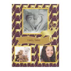 Instagram PHOTO Aubergine Eggplant Gold Stag 2 Fleece Blanket - template gifts custom diy customize