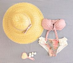 ♡ Nothing says more GIRLY than... ♡   FLOWERS, polka dots, LACES & BOWS all in one perfect bikini! — with Urban Drops. Tags: madame shou shou