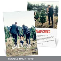 This beautiful frame & verse wraps nicely around any favorite photo! This card is printed on double this paper making is super fancy! #holiday #ChristmasCards #PremiumCards