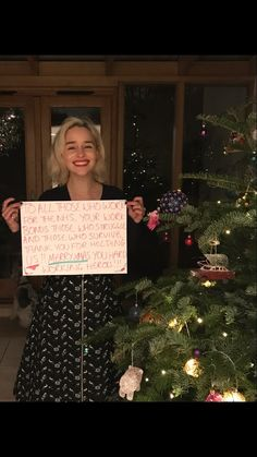 Christmas is coming...and the majestic Emilia Clarke has a beautiful message for NHS staff: 'Your work bonds those who struggle and those who survive' Please RT if you agree with her #MerryXmasNHS #GameOfThrones