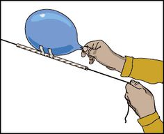 Rocket Balloon ideas @  http://physics.about.com/od/classroomphysics/ss/balloonrocket.htm