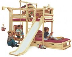 If our kids had bunk beds like these they would never sleep! But it is really cute!