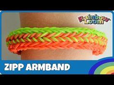 Rainbow Loom Zipp-Armband mit MonsterTail - deutsche Anleitung - YouTube