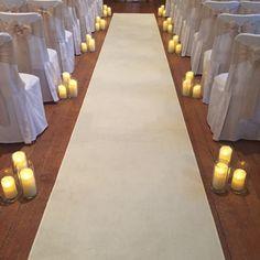 LED Luminara Candle hire for wedding ceremony walkway at Hengrave Hall Luminara Candles, Led Candles, Wedding Walkway, Wedding Ceremony, Hall Lighting, Table Decorations, Wedding Ideas, Home Decor, Hochzeit