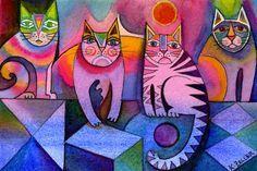 Rainbow cats larger file by karincharlotte.deviantart.com on @deviantART