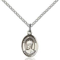 Sterling Silver St Edward the Confessor Pendant 12 x 14 inches with Sterling Silver Lite Curb Chain * You can find out more details at the link of the image.Note:It is affiliate link to Amazon.
