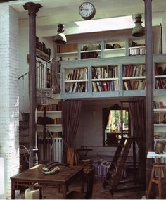 Cool book nook library!