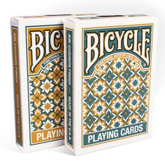 Available in turquoise or gold, the Madison Deck is a unique addition to your collection of playing cards.