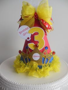 Snow White themed Party hat. www.SandysSpecialtyShop.Etsy.com