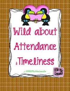 "Get wild about promoting school wide attendance improvement and timeliness.  Kit includes fun and wild edible posters, individual letters to spell out ""perfect attendance"", attendance themed team names, attendance/timeliness count posters for morning meetings, and class percentage goal posters!"
