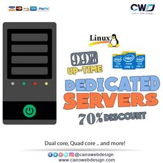 #Dedicated_Hosting Built For High Performance, #Dedicated #Servers starting at $69.00/mo  http://cairowebdesign.com/en/dedicated