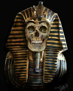 Faraon Art Print by Thanya - X-Small Egyptian Mythology, Egyptian Goddess, Ancient Egyptian Art, Egyptian Drawings, Skull Artwork, Egypt Art, Skull And Bones, Dark Art, Crane