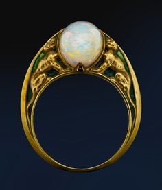 Rene Lalique opal ring - 1900. ALBION ART Collection. - M