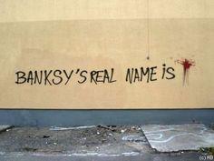 Banksys real name is ... #graffiti #murder #scene