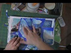 Art Journal Technique Grunge Background