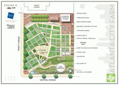 Atlanta City Farm Concept by B+C Studio aka Trinity Avenue Farm Design Urban Agriculture, Urban Farming, Pervious Pavers, Homestead Layout, Atlanta City, Farm Layout, City Farm, Vertical Farming, Garden Compost