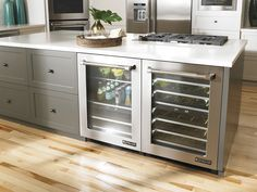 Jenn-Air built-in, under-counter refrigerator from Don's / Hillmon Appliance, with beverage center and wine cellar
