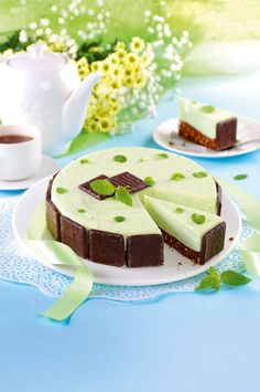 Miętowy sernik bez pieczenia Gelatin Recipes, Fruit Recipes, Cheesecake Recipes, Cookie Recipes, Polish Recipes, Homemade Cakes, Dessert Bars, Chocolate Recipes, My Favorite Food