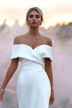 Civil Wedding Dresses, Wedding Dress Trends, Dream Wedding Dresses, Wedding Attire, Bridal Dresses, Wedding Gowns, Wedding Ceremony, Satin Mermaid Wedding Dress, Mermaid Dresses