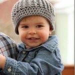 Crochet Toddler Ribbed Beanie Pattern