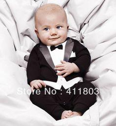o envio gratuito de meninos Romper do bebê New romper do bebê Gentleman modelagem infantil manga longa subir roupa dos miúdos terno do corpo 8.30