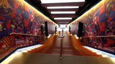 FC Barcelona Players' Tunnel at Camp Nou