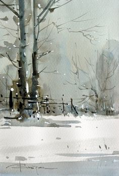 Watercolour-Acuarela-Corneliu-Dragan-Targoviste-peisaj-rural-28 #watercolorarts