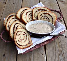 cinnamon vanilla bread and tahitian vanilla bean whipped butter